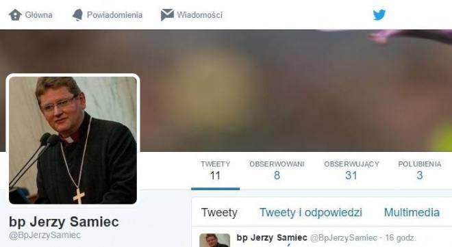 Biskup Jerzy Samiec na Twitterze