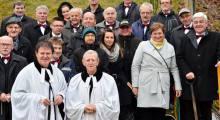 Skoczowscy chórzyści w Ogrodzie Reformacji