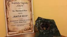 Nagroda Gayla dla ks. Marcina Pysza