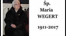 Zmarła śp. seniorowa Maria Wegert