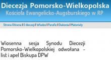 Odwołana sesja Synodu Diecezji Pom.-Wlk.