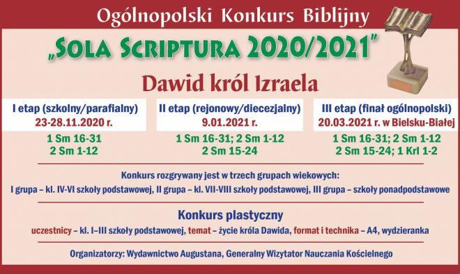 Sola Scriptura 2020/2021