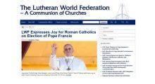 Luteranie pozdrawiają papieża Franciszka