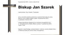 Informacje dotyczące pogrzebu śp. bp. Jana Szarka