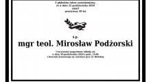 Zmarł śp. Mirosław Podżorski