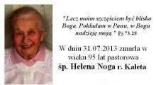 Zmarła pastorowa Helena Noga
