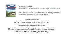 Zaproszenie na Forum Ewangelickie