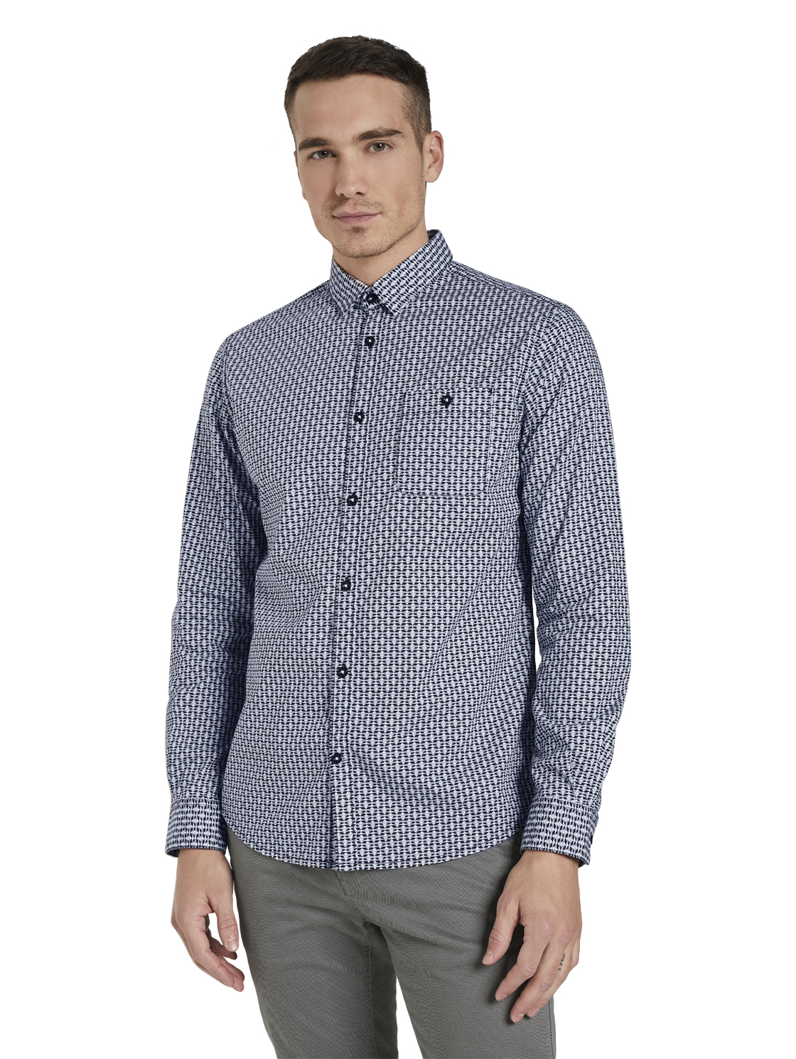 regular mini print shirt