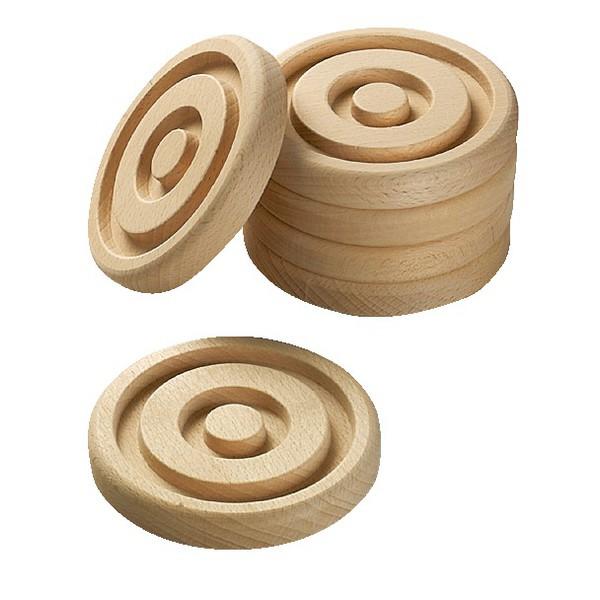 Krążki z drewna, 10 sztuk