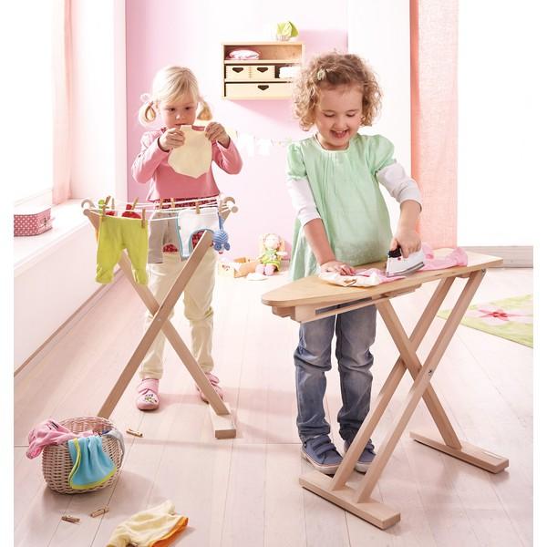 Deska do prasowania dla dzieci, z drewna