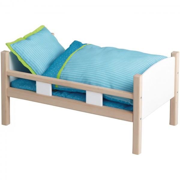 Łóżko dla lalki, białe