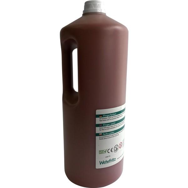 Farby do malowania palcami Wehrfritz - brązowy 2 l