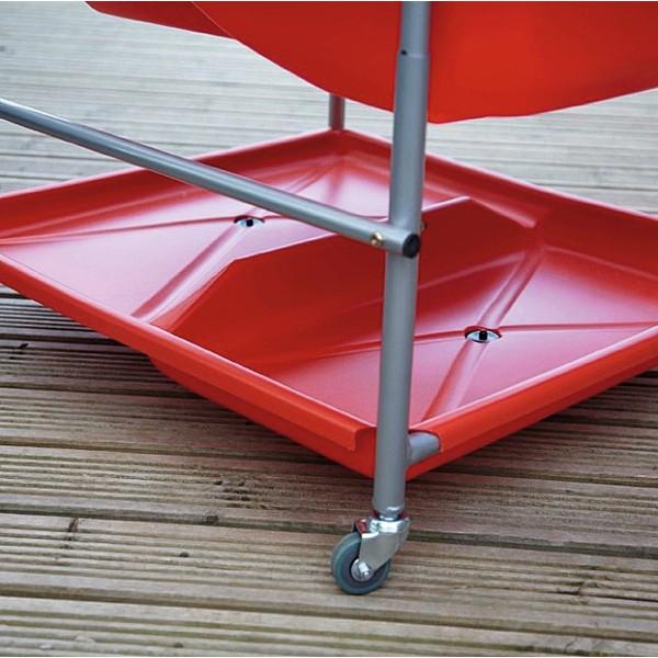 Zbiornik gromadzący wodę, czerwony