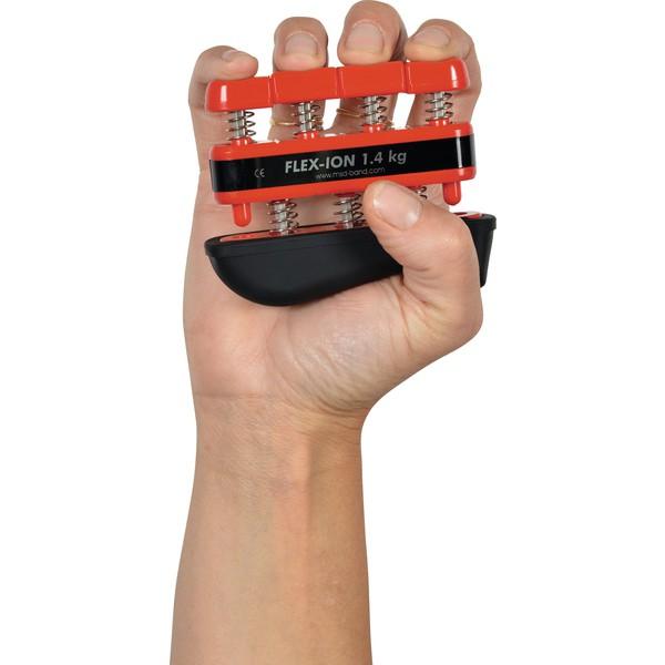 Trener palców i dłoni Flex-lon, czerwony (opór 1,4 kg)