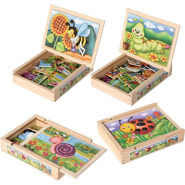 Puzzle magnetyczne - biedronka, ślimak, gąsienica i trzmiel