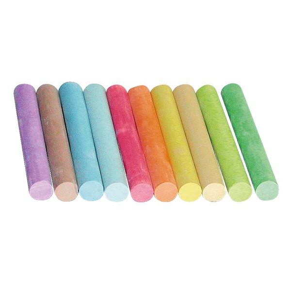 Kreda do tablicy, 100 sztuk - 10 kolorów