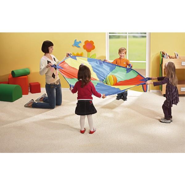 Chusta animacyjna, średnica 160 cm, kolorowa, 8 uchwytów