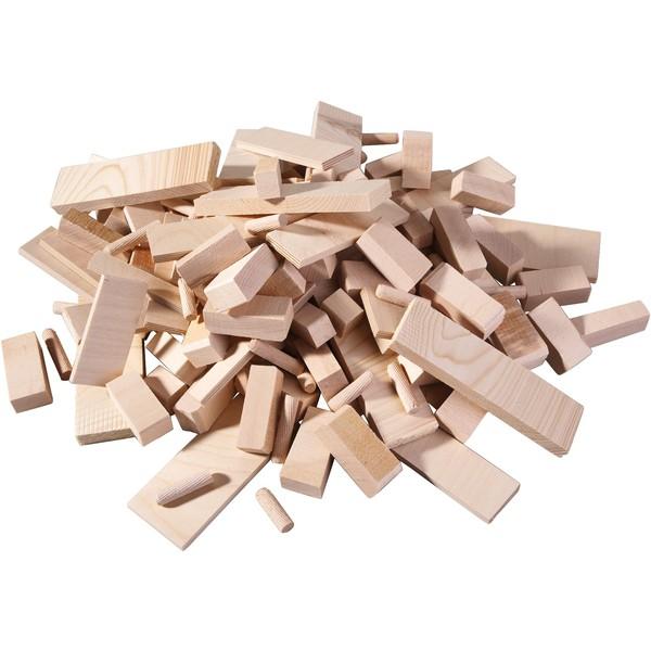 Zestaw różnych części z drewna, 3 kg