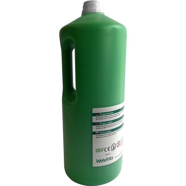 Farby do malowania palcami Wehrfritz - zielony 2 l