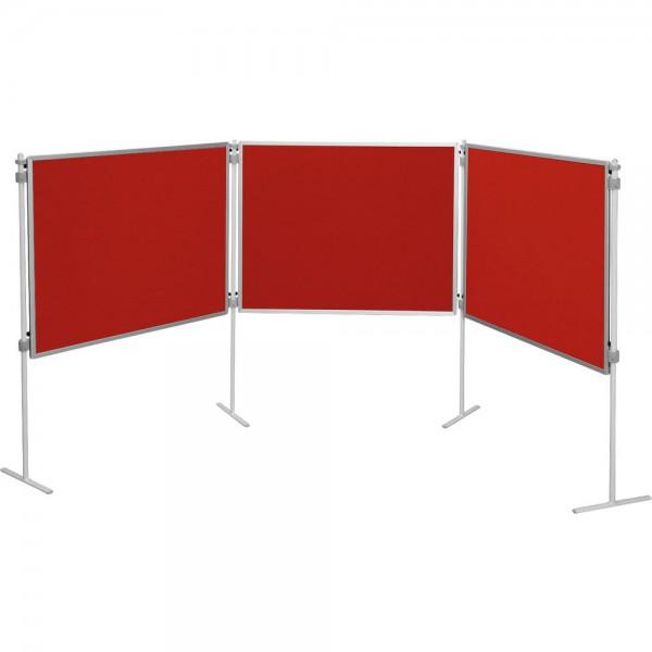 Zestaw tablic tekstylnych, czerwony, 7 el.