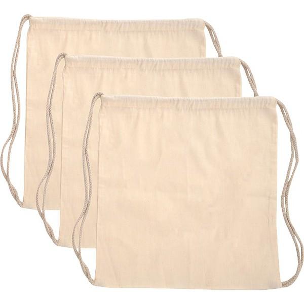 Plecaki ściągane sznurkiem 3 sztuki