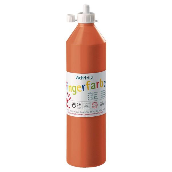 Wehrfritz - farby do malowania palcami, 750 ml - pomarańczowy