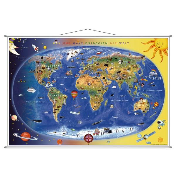 Mapa świata dla dzieci, 92 x 60 cm