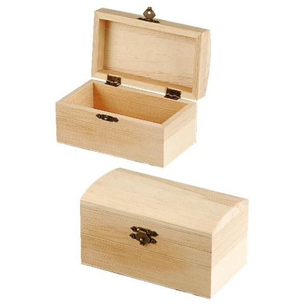 Drewniany kuferek , 2 sztuki