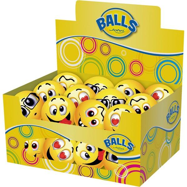Skoczne piłki Smiley, 24 sztuki