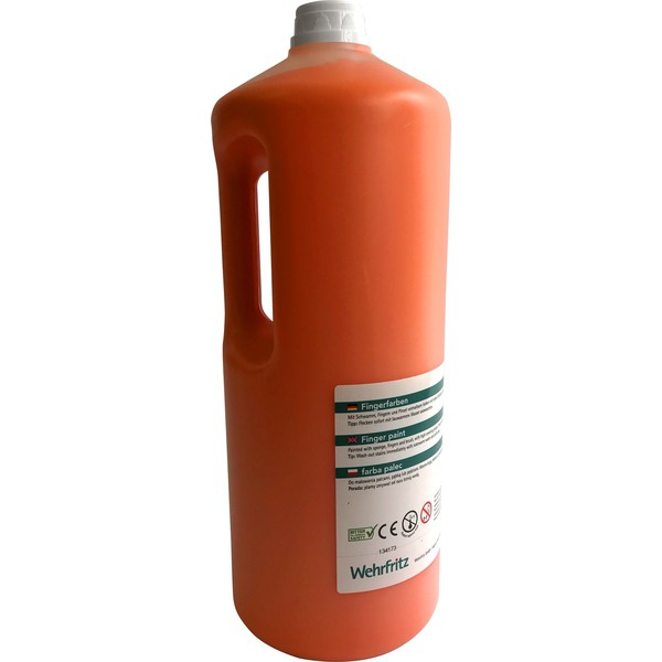 Farby do malowania palcami Wehrfritz - pomarańczowy 2 l