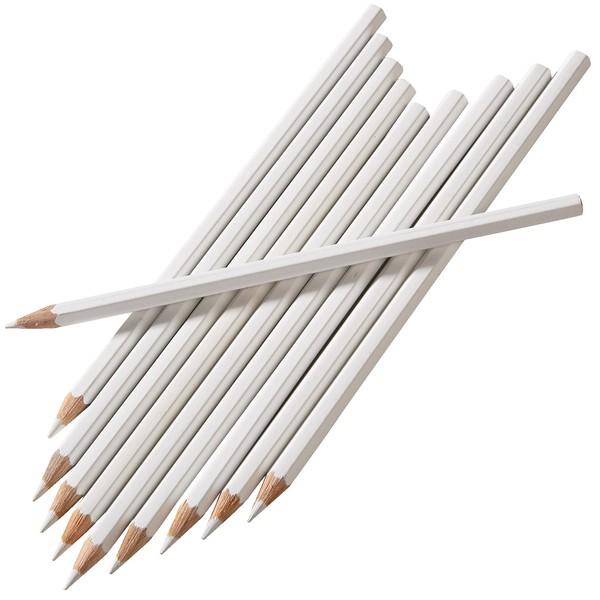 Białe ołówki, 12 sztuk