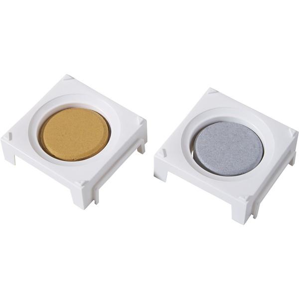 Bloczki farb temperowych Wehrfritz średnica 5,5 cm, 2 sztuki - srebrny