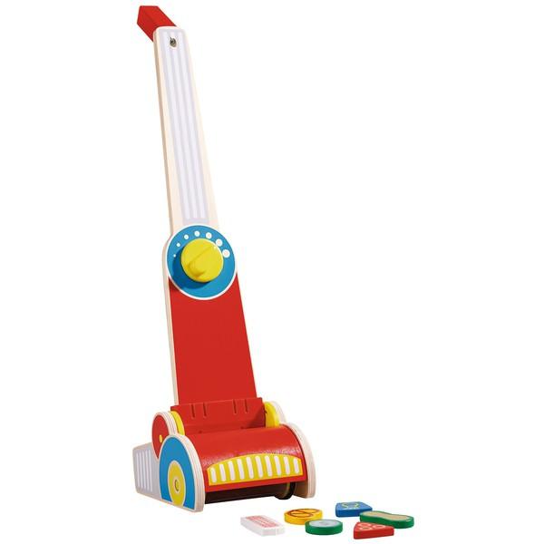 Odkurzacz mop zabawkowy drewniany dla dzieci