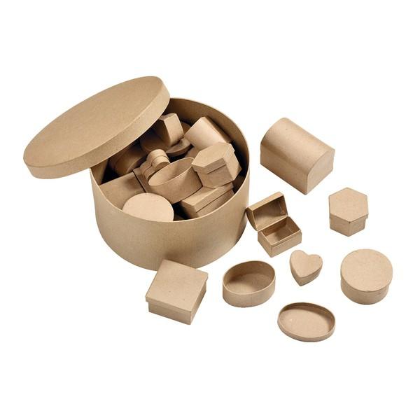 Mix tekturowych pudełek, 24 sztuki