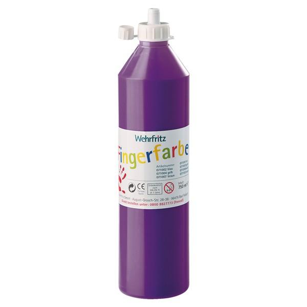 Wehrfritz - farby do malowania palcami, 750 ml - fioletowy