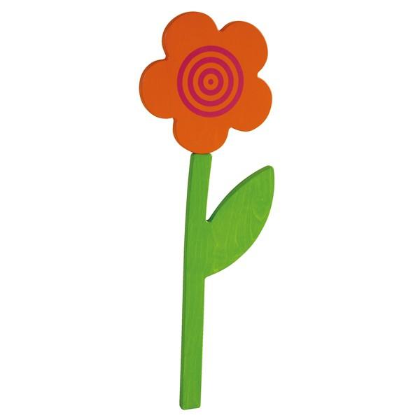 """Aplikacja ścienna """"Kwiat"""" - pomarańczowy"""