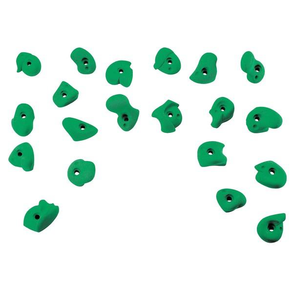 Uchwyty wspinaczkowe zielone, 20 sztuk