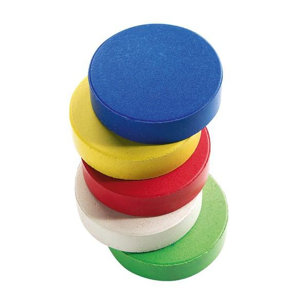 Farby temperowe w bloczkac hśrednica 5,5 cm, 5 sztuk