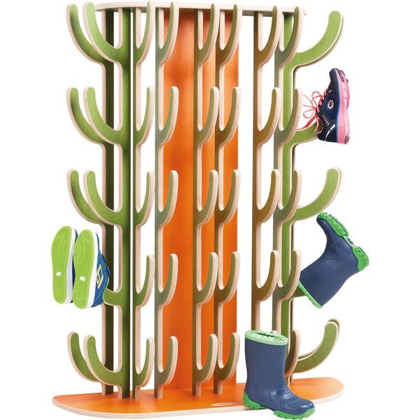 Kaktus na kalosze Stojak na buty montaż na ścianie