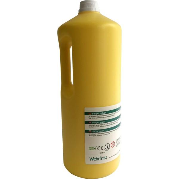 Farby do malowania palcami Wehrfritz - żółty 2 l