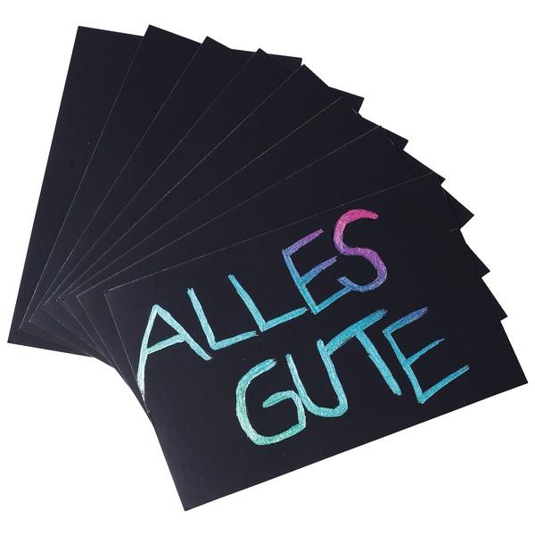 Czarodziejskie karty 10,5 x 14,8 cm, 30 sztuk (tęczowe)