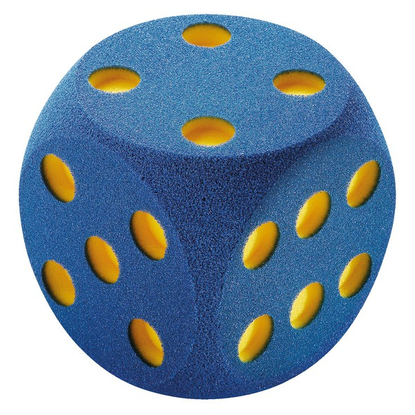 Duża kostka z pianki 16 cm - do gier i zabaw