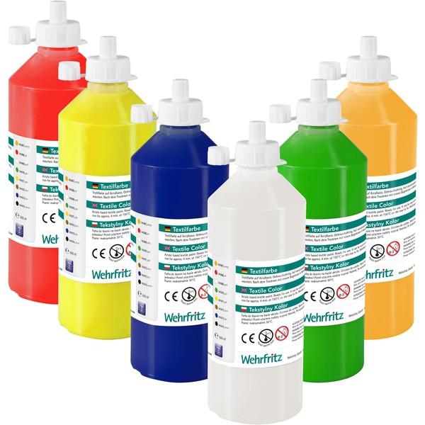 Zestaw farb do tekstyliów Wehrfritz 6 x 500 ml