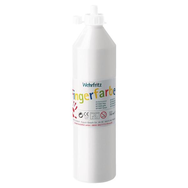 Wehrfritz - farby do malowania palcami, 750 ml - biały