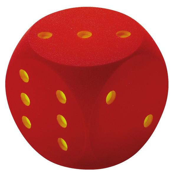 Kostka z pianki czerwona 30 cm