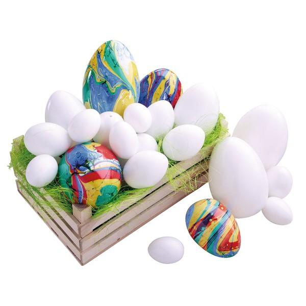 Zestaw jajek z tworzywa sztucznego , 30 sztuk
