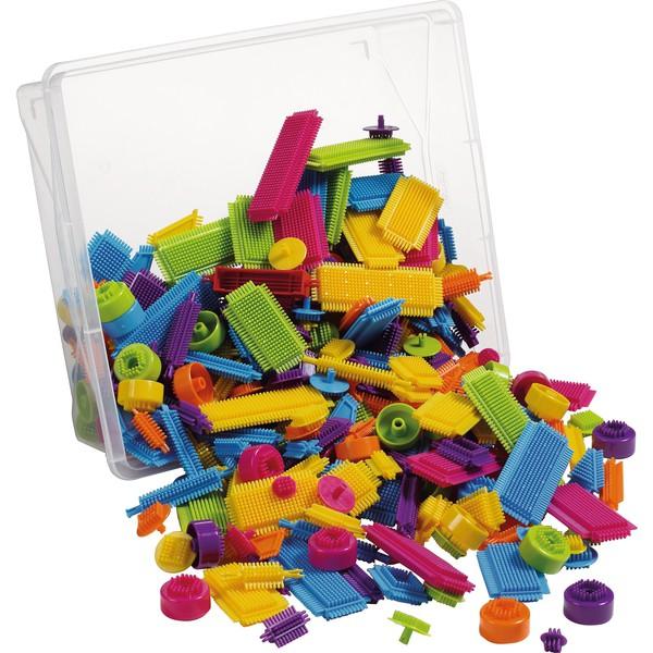 Klocki jeżyki podstawowe kolory, 350 części
