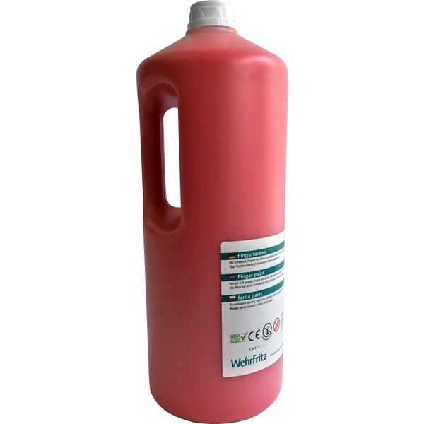 Farby do malowania palcami Wehrfritz - czerwony 2 l