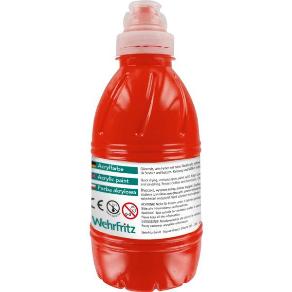 Farby akrylowe Wehrfritz - czerwony 500 ml