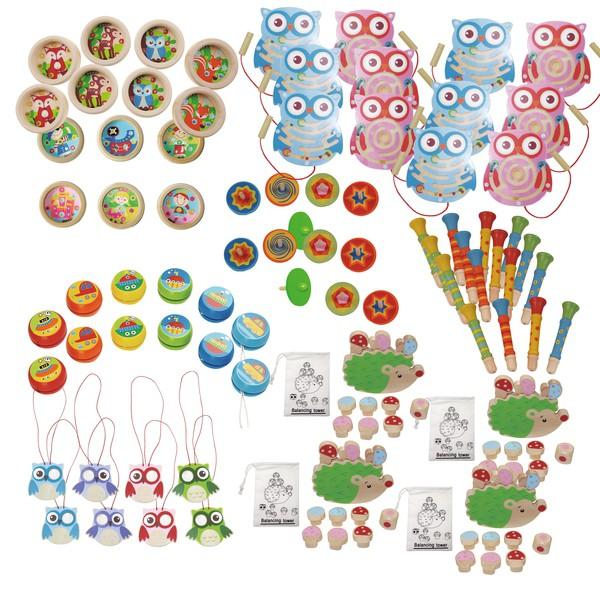 Zabawki i gry z drewna, 90 zabawek